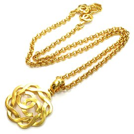 Chanel-Chanel Gold CC Necklace-Golden
