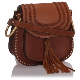 Chloé-Chloe Brown Leather Hudson Crossbody Bag-Brown
