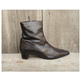Hermès-Boots-Dark brown
