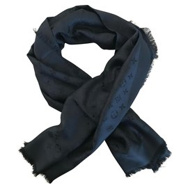 Louis Vuitton-Black Louis Vuitton shawl-Black