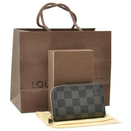 Louis Vuitton-Louis Vuitton Damier Graphite Zippy-Grey