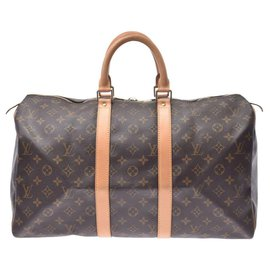 Louis Vuitton-Louis Vuitton Monogram Keepall 45-Brown