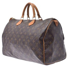 Louis Vuitton-Louis Vuitton Monogram Speedy 40-Brown