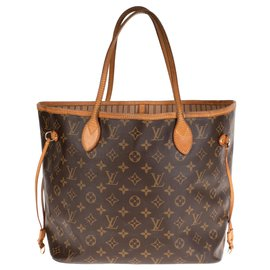 Louis Vuitton-Louis Vuitton Neverfull MM in Monogram coated canvas-Brown