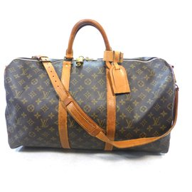 Louis Vuitton-keepall 50 monogram shoulder strap-Brown