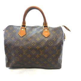 Louis Vuitton-Speedy 30 Monogram-Brown