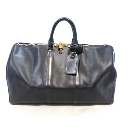 Louis Vuitton-keepall 45 Cuir épi noir-Black