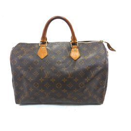 Louis Vuitton-Speedy 35 Monogram-Brown