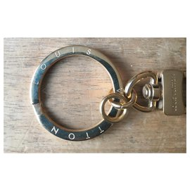 Louis Vuitton-Louis Vuitton shoulder strap keyring-Golden
