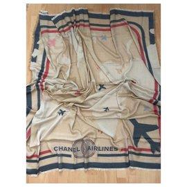 Chanel-Chanel stole-Beige