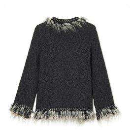 Chanel-ALPAGA JACKET LIKE FR38-Dark grey