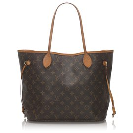 Louis Vuitton-Louis Vuitton Brown Monogram Neverfull MM-Brown