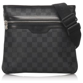 Louis Vuitton-Louis Vuitton Black Damier Graphite Thomas-Black,Grey