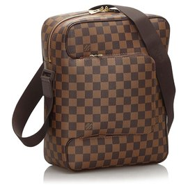 Louis Vuitton-Louis Vuitton Brown Damier Ebene Olav MM-Brown
