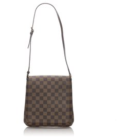Louis Vuitton-Louis Vuitton Brown Damier Ebene Musette Salsa Short Strap-Brown