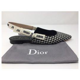 Dior-DIOR BALLERINA J'ADIOR IN NEW HONEYCOMB WOOL-Black,White