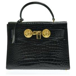 Versace-Versace Hand Bag-Black