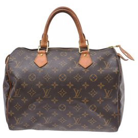 Louis Vuitton-Louis Vuitton Monogram Speedy 30-Brown
