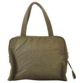 Prada-Prada Nylon Hand Bag-Khaki