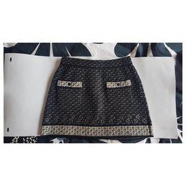 Chanel-Skirts-Black,White,Grey