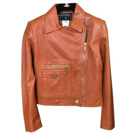 Chanel-Biker jackets-Caramel
