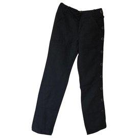 Hermès-Un pantalon, leggings-Noir