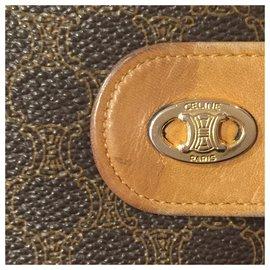 Céline-CELINE vintage wallet Macadam-Brown,Beige