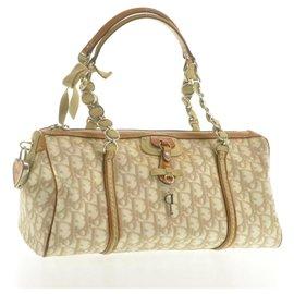 Dior-Dior Trotter Canvas Hand Bag-Beige