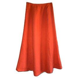 120% LINO-Long skirt-Coral