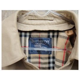Burberry-Burberry woman raincoat vintage t 48 with removable wool lining-Beige