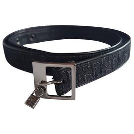 Christian Dior-Belts-Black,Silvery