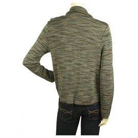 M Missoni-MISSONI Gray Hues Woolen Snap Button front Jacket Cardigan Cardi size IT 44-Multiple colors