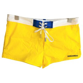 Dsquared2-Dsquared2 NEW MEN'S SWIM STRETCH TRUNKS-Yellow