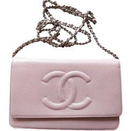 Chanel-Caviar Woc-Rosa