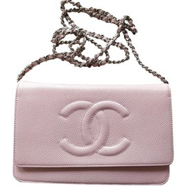 Chanel-Caviar Woc-Rose