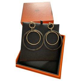 Hermès-Hermès Amulets duo earrings-Caramel