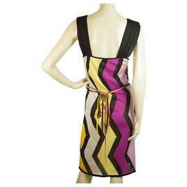 Missoni-Missoni Sport Multicolor Zig Zag Signature Sleeveless knee Length Dress size 42-Multiple colors