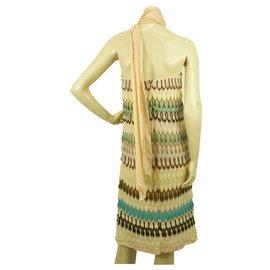 Missoni-Missoni Multicolored Strapless Zig Zag Striped Knee length dress Size 40-Multiple colors