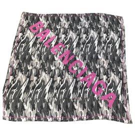 Balenciaga-Balenciaga shawl-Grey,Fuschia
