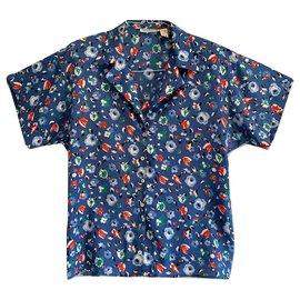 Cacharel-Vintage flowery shirt-Multiple colors