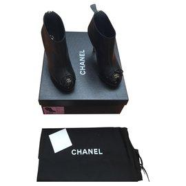 Chanel-Bottines-Noir