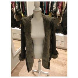Escada-Coats, Outerwear-Grey