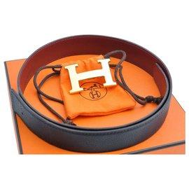 Hermès-Hermès Constance H buckle-Black