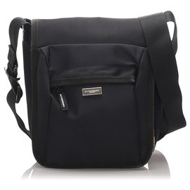 Burberry-Burberry Black Nylon Crossbody Bag-Black