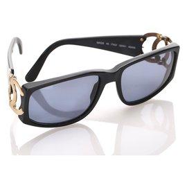 Chanel-Lunettes de soleil teintées carrées noires Chanel-Noir