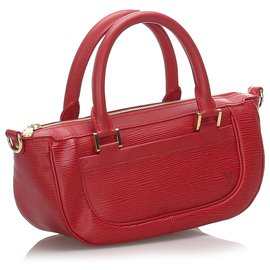 Louis Vuitton-Louis Vuitton Red Epi Dhanura PM-Rouge