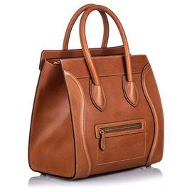 Céline-Cabas en cuir marron Céline-Marron