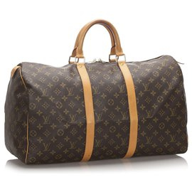Louis Vuitton-Louis Vuitton Keepall Monogram Brown 50-Marron