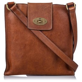 Mulberry-Mulberry Brown Leather Joel Crossbody Bag-Brown