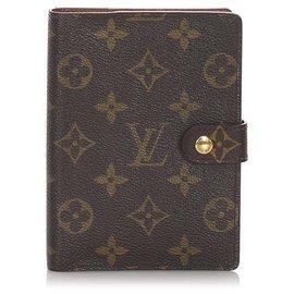 Louis Vuitton-Louis Vuitton Brown Monogram Agenda PM-Brown,Dark brown